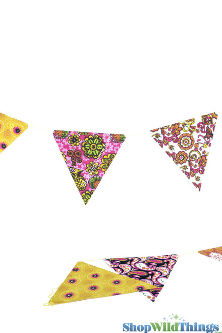 CLEARANCE! Bunting -  Paper Triangle -  Retro - 11 Feet Long
