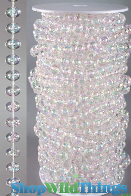 Roll of Beads 22 Yards (66 ft) - 10MM Large Iridescent Ballchain