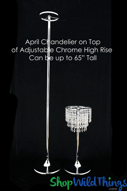 """Centerpiece Riser Kit - """"April"""" Tiered Clear Centerpiece on Adjustable High Rise"""