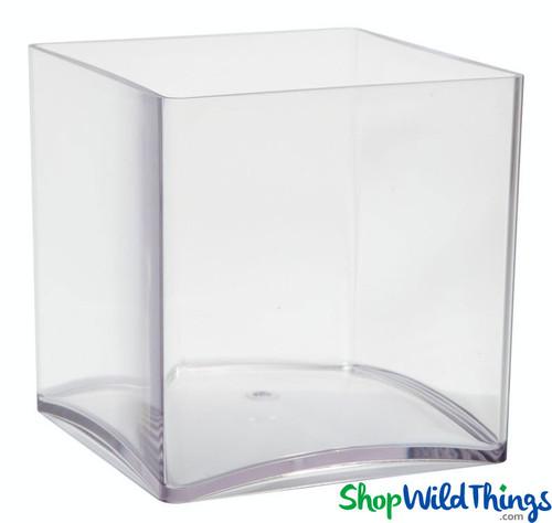 Vase - Acrylic Square - Clear 6in x 6in x 6in