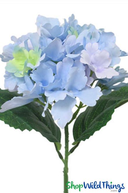 "Silk Hydrangea Bloom Violet Blue - Deluxe 6"" Flower"