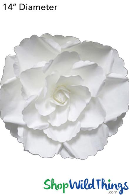 "Paper Rose Gardenia 14"" Off-White - Make Flower Walls!"