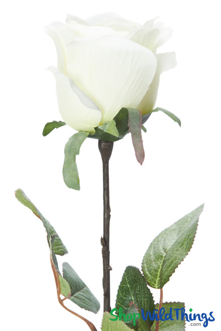 "Silk Rose Bud - Ivory - 27 1/2"""