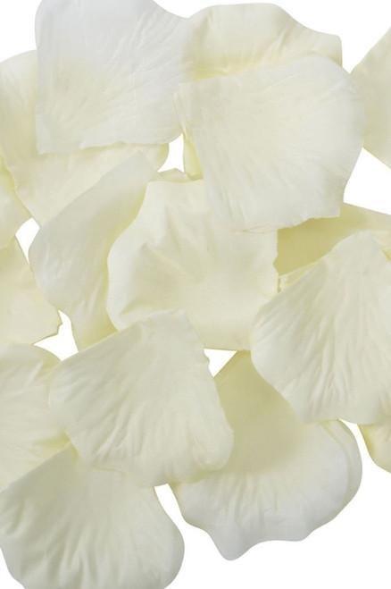 Silk Rose Petals - Ivory - Bag of 300 pcs