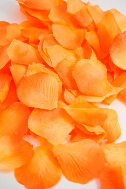 Silk Rose Petals - Orange Umbre - Bag of 300 pcs