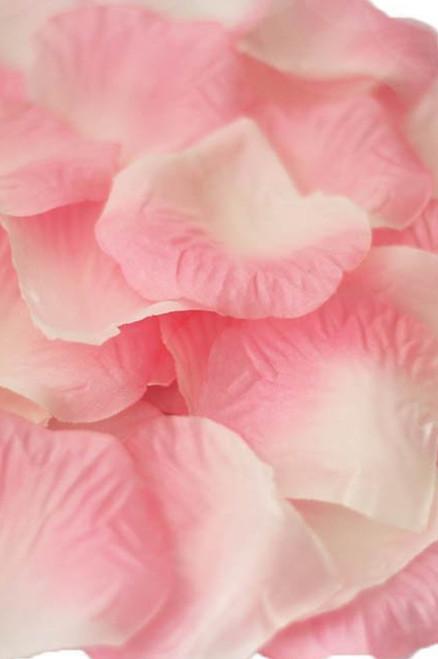 Silk Rose Petals - Light Pink & Cream Two Toned- Bag of 400 pcs