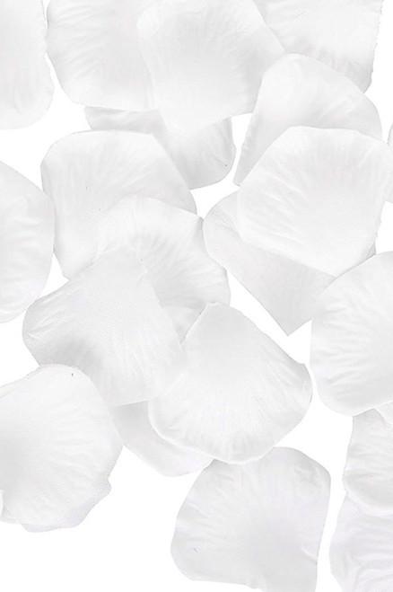 Silk Rose Petals - Pure White - Bag of 300 pcs