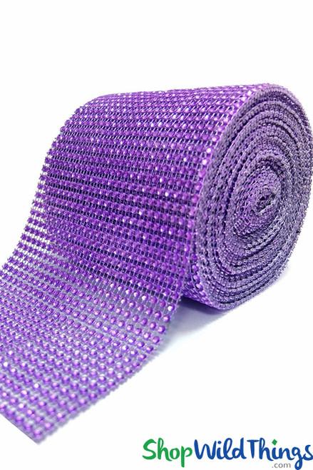"Diamond Wrap Rolls Royal Purple 4 5/8"" Wide x 30' Long"