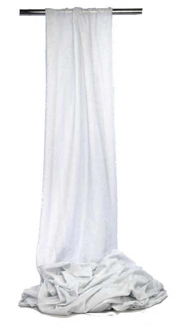 "Knit Fabric Bolt, Shimmering Stretchy Shiny Silver, 22"" x 10yd"