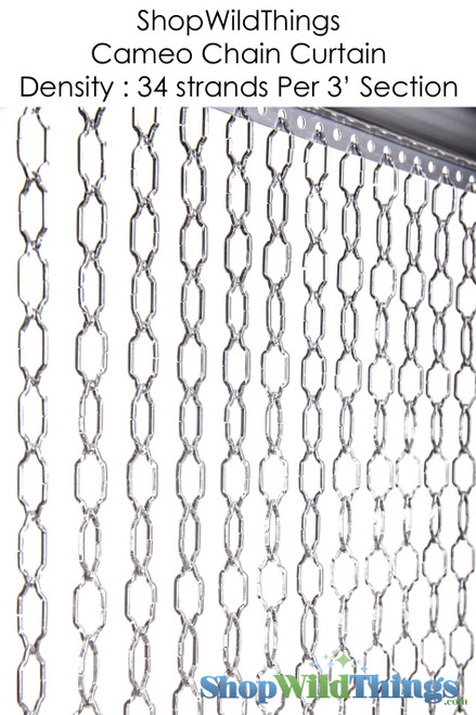 Cameo Geometric Chain Curtain 3 ft x 6 ft (Pick # of Strands!)