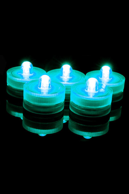 DazzLED Submersible Teal LED Lights - Set of 10