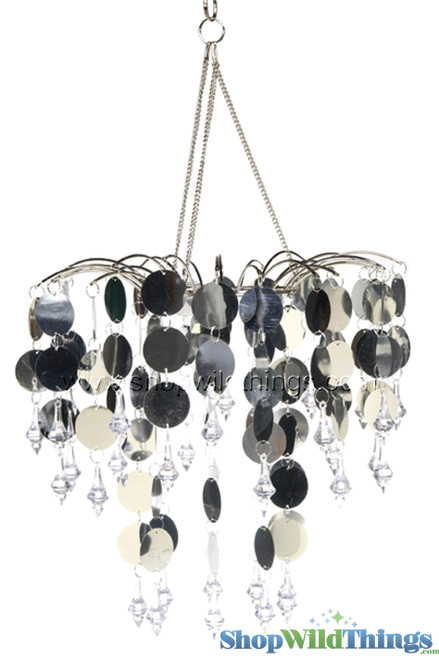 """Chandelier Decoration """"Spangles & Crystals"""" - Silver"""