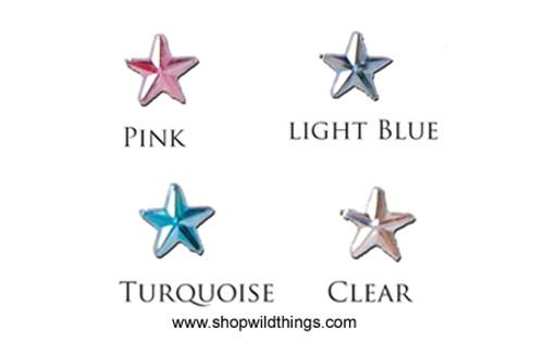 SALE ! Rhinestones - 10mm Stars - 80pcs - 4 Colors Available