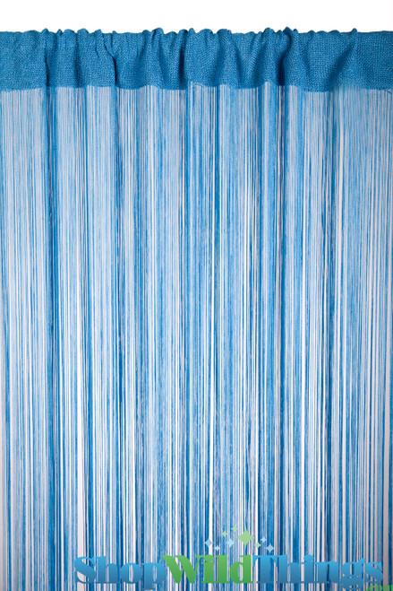 String Curtain Cobalt Blue 3 ft x 7.3 ft - Rayon