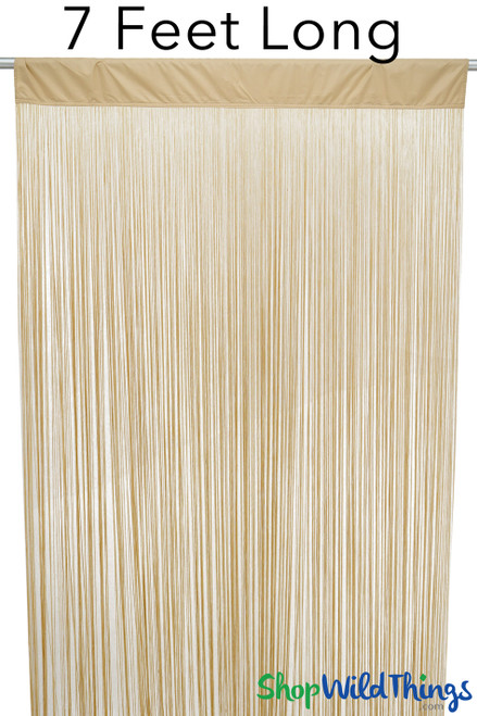 "String Curtain Golden Blonde 3 FT x 7.3 FT (88"") Polyester & Cotton ""Nassau"""