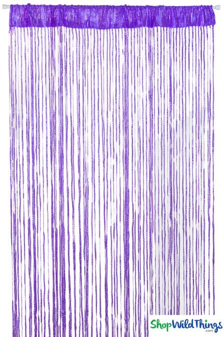 String Curtains - Sparkle Purple w/Tension Rod