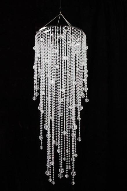 """Chandelier Vanessa  - Crystal Iridescent - 39"""" Long"""