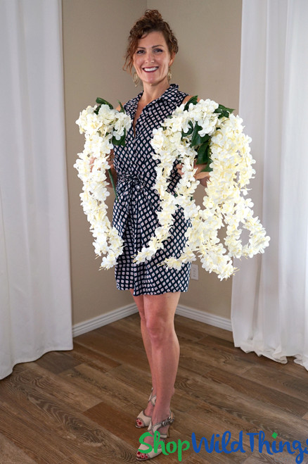 "Hydrangea & Plumeria Bouquet Spray - Ivory 38"" - BUY MORE, SAVE MORE!"