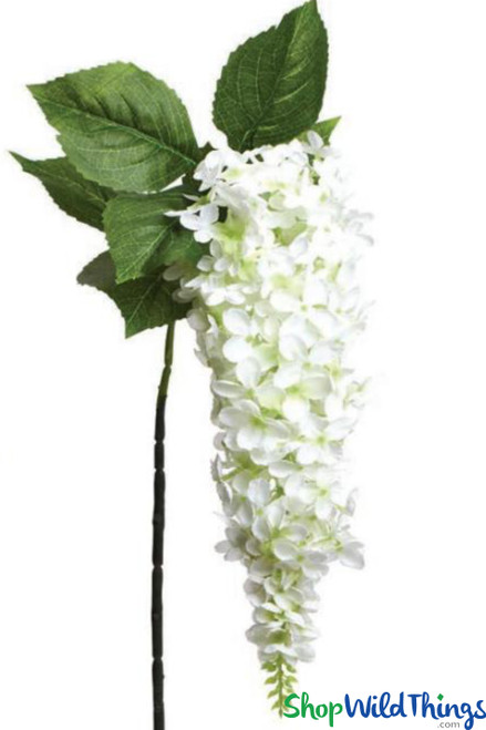 """Spray - Wisteria 47"""" - Off-White Flowers - Large Draping Bloom"""
