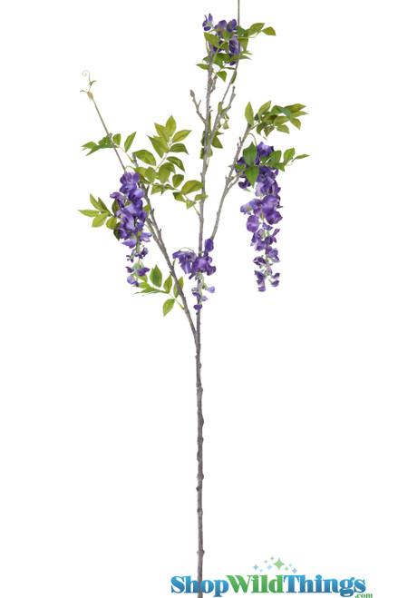 "Spray - Wisteria 50"" (4 Feet) - Purple Flowers"