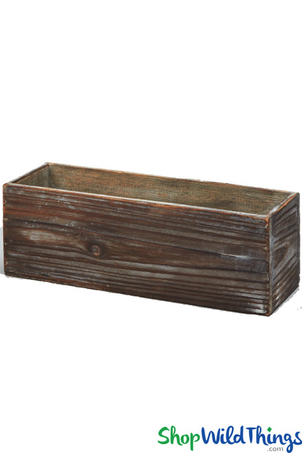 """Wooden Shabby Centerpiece Builder Box - Brown - 11 1/2"""" Long - BUY MORE, SAVE MORE!"""