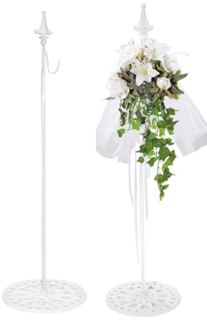 Hanger for Wreaths & Floral Decor -  White - Adjustable to 62""