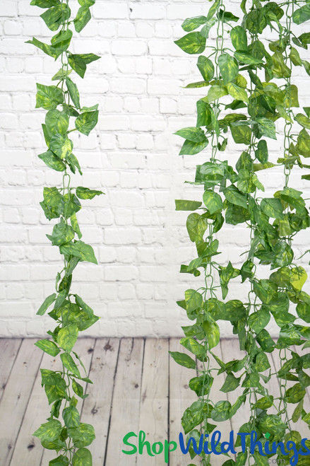 Silk Pothos Leaf Garland Vine 8' (as low as $3.44 each)