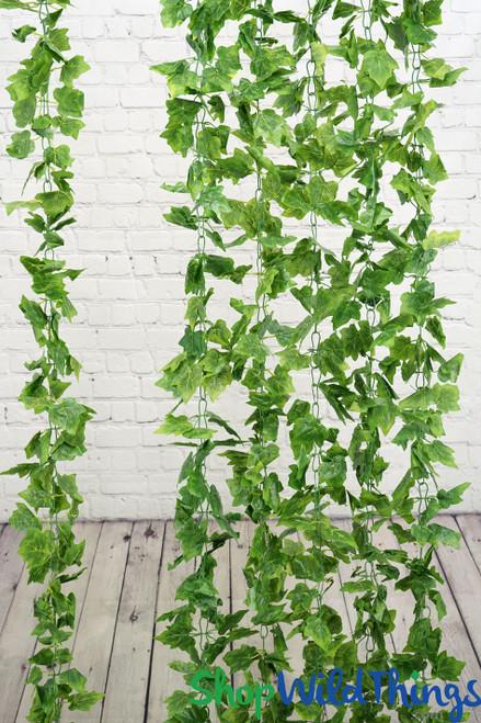 Silk Grape Leaf Ivy Garland Vine 8' (as low as $3.41 each)