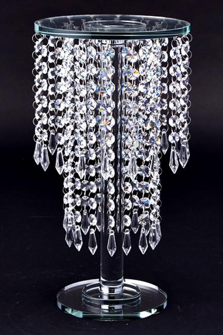 """Crystal Tiered Table Chandelier Centerpiece & Dessert Riser 15 1/4"""""""