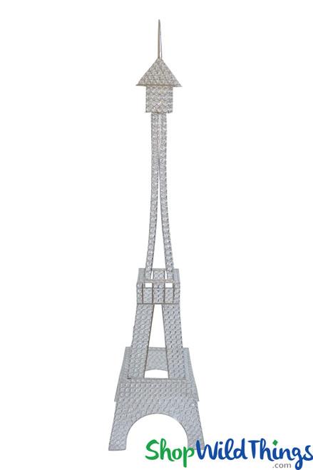 Prestige Crystal Beaded Eiffel Tower Centerpiece, Floor Decor 5'