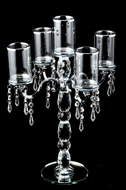 "Crystal Candelabra 5 Cylinder Table Chandelier - 19 1/2"" Tall - BUY MORE, SAVE MORE!"