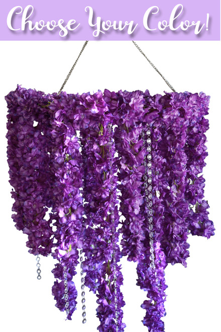 COMING SOON! Floral Chandelier & Crystals 2' x 4' - 8 Flower & Color Choices - Kit