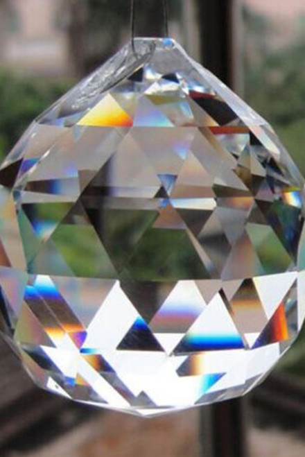 """COMING SOON! Real Glass Crystal Ball Pendants - Clear - 2 1/4"""" tall (50mm)"""