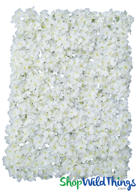 "Flower Wall 17"" x 25"" Silk Cherry Blossoms - Cream & White"