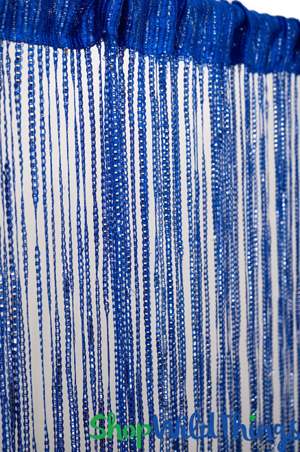 String Curtains - Sparkle Royal Blue w/Tension Rod - 6.4' Long