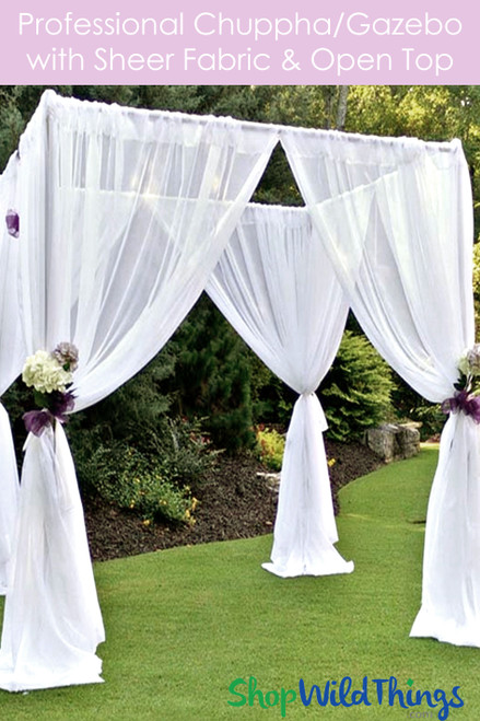 Wedding & Event Canopy Professional Series With Sheer Curtains - 8' Tall by 6'-10' Wide