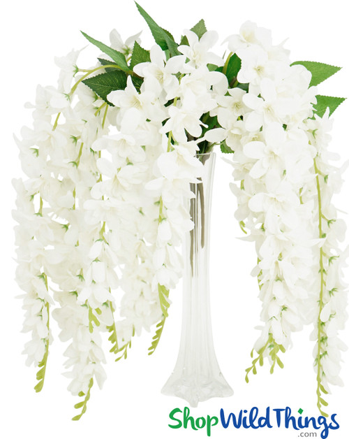 "Plumeria Silk Floral Spray - 26"" - White"
