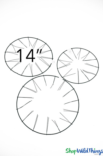 """Wire Wreath Form - 14"""" Round - (Tabletop or Hanging)"""