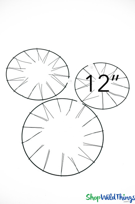 """Wire Wreath Form - 12"""" Round (Tabletop or Hanging)"""