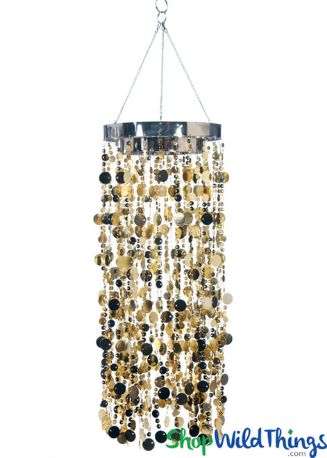 Bubbles Party Chandelier - Indian Gold - 30""