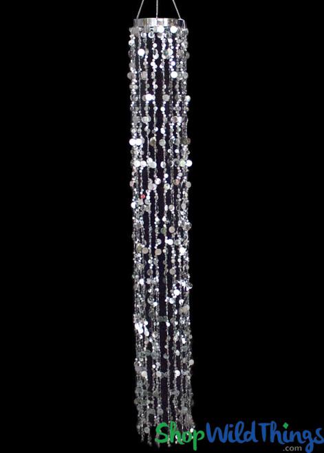 "Bubbles Party Chandelier - Silver - 66"""