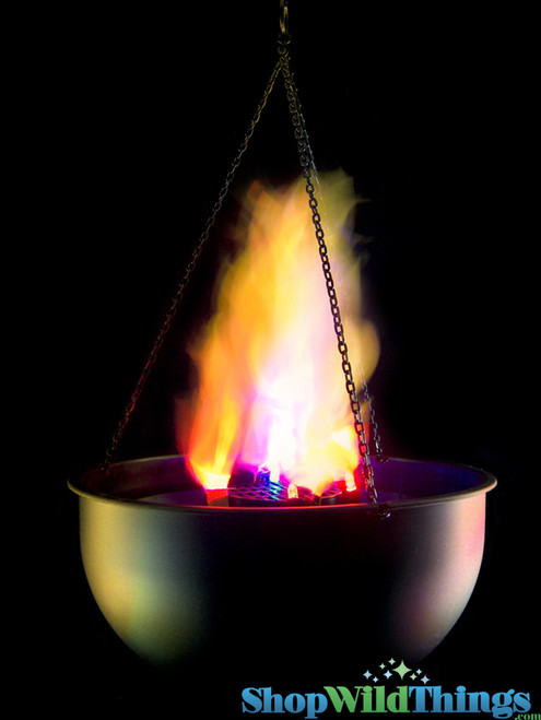 COMING SOON! Flame Lamp - Battery Operated - Amber and Blue - Tabletop or Hanging