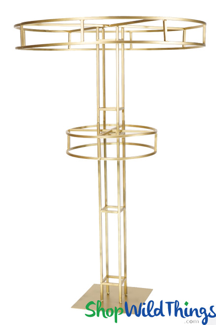 """""""High Tower"""" Gold Tiered Floral Riser 5'"""