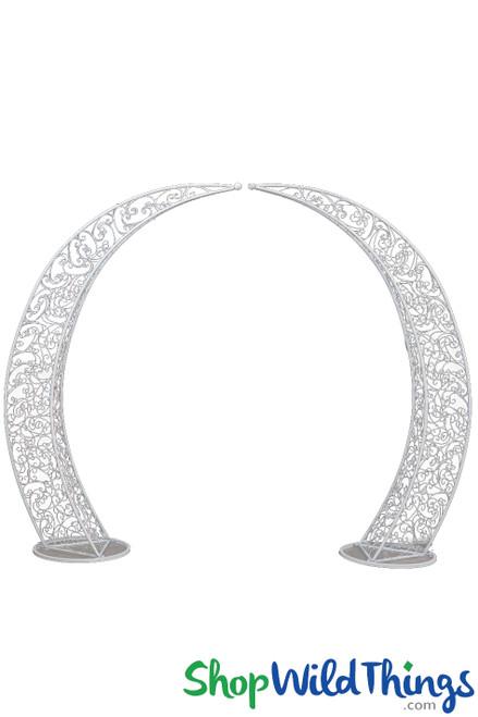 "Half Moon Arch | Round Circle Floral Wedding Arch ""Firenze"" - 8'3""H x 10'3""W"