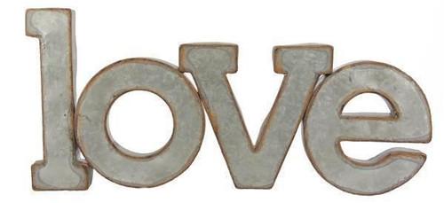"Metal Love Sign - Hang or Tabletop - 8 1/2"" H x 18 1/2"" W"