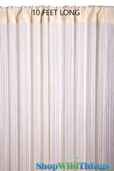 String Curtain Ivory Pearl 3 ft x 10 ft - Rayon