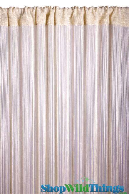 String Curtain Bone 3 ft x 7.5 ft - Rayon