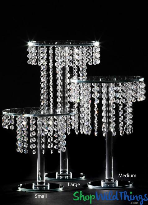 """Crystal Tiered """"Aubrey Small"""" Centerpiece & Dessert Riser 10 3/4"""" Tall"""