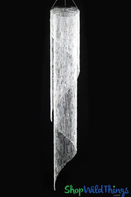 "Chandelier ""Ireland"" - Swirl Crystal Iridescent - 4' ft"