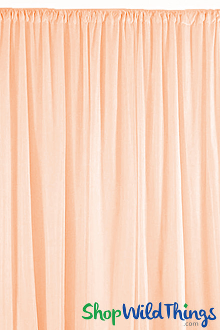 Sheer Draping Panel Blush 10' Tall x 10' Wide w/ Top & Bottom Rod Pockets Flame Resistant - Ceilings or Backdrops